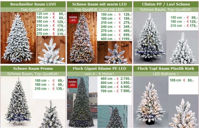Weihnachtsbaum Schneit.Verschneite Künstliche Weihnachtsbäume Winterlicher Geht Es Kaum